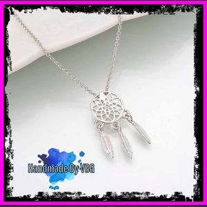 🆕 Sterling Silver Dream Catcher Necklace